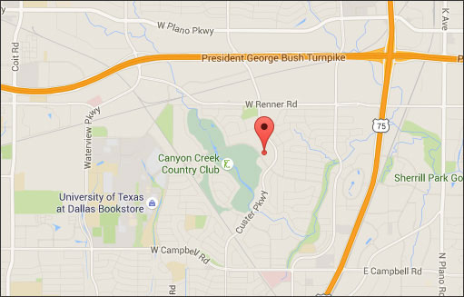 Map to Tannery & Company, 2701 Custer Pkwy #819, Richardson, TX 75080